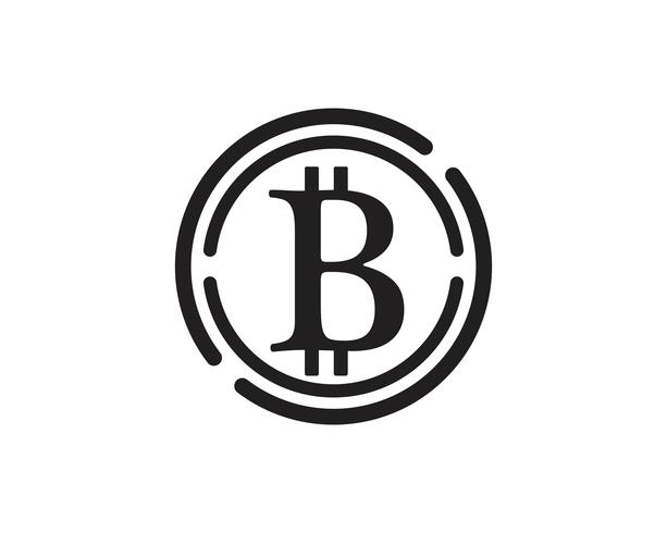 Bitcoin logotyp vektor mall