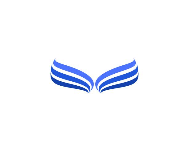 Wings bird sign abstract template icon