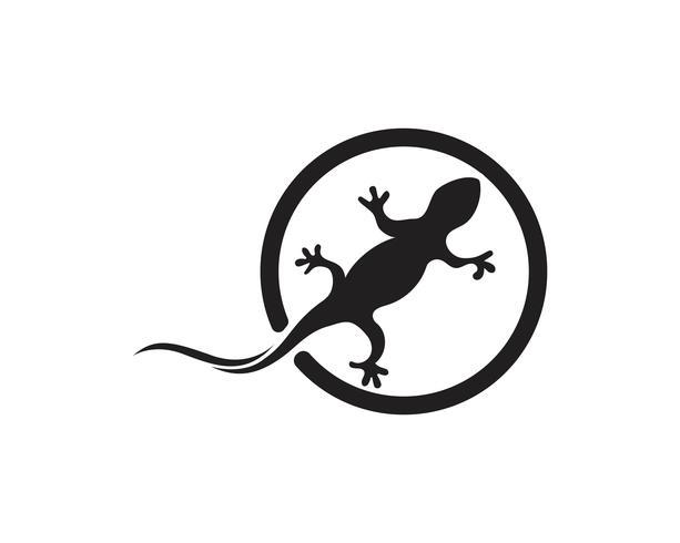 Lizard Chameleon Gecko Silhouette preto
