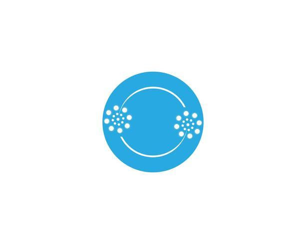 Vetor de modelo de vetor de logotipo flor dente de leão