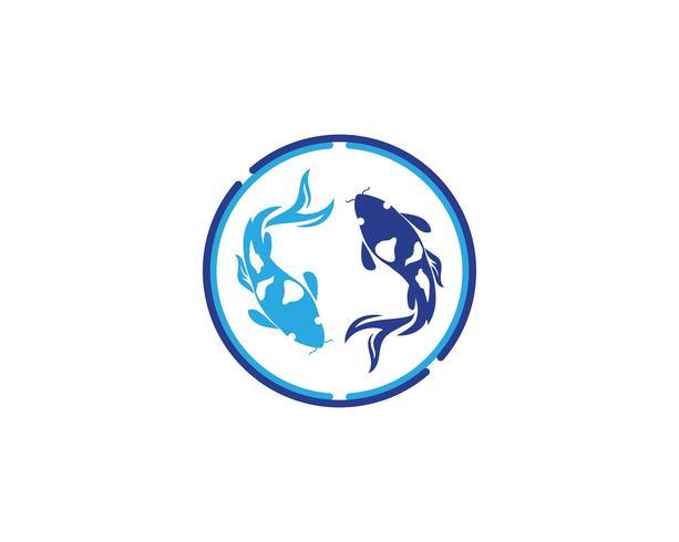 carp koi design on white background. Animal. Fish Icon. Underwater. Easy editable layered
