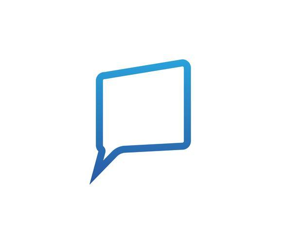 Discurso de burbuja chat icono Logo plantilla vector