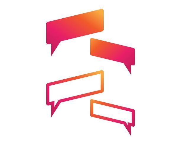 Spracheblasenikone Logoschablonenvektor-Illustrationsvektor