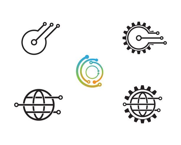 Icono del logo de tecnología - Vectores