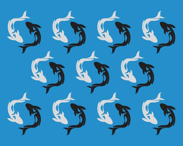 carp koi design on white background. Animal. Fish Icon. Underwater. Easy editable layered vector