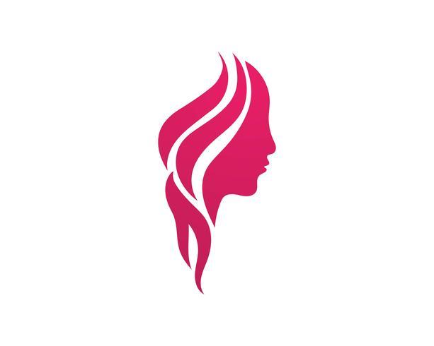 Plantillas de vectores de logotipo de salón de pelo y cara