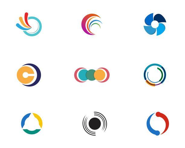 Cirkel Logo Mall vektorikonen
