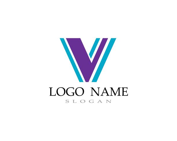 V iconos de iconos de plantilla de logotipo y símbolos vector