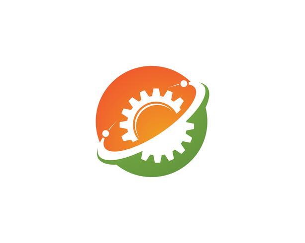 Teknologi logotypikonen - vektorer