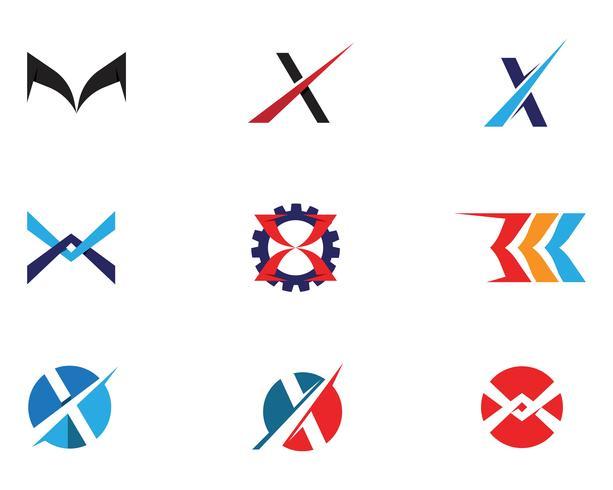 X brief Logo sjabloon vector pictogram
