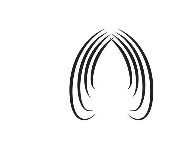 stil frisyr ikon illustration