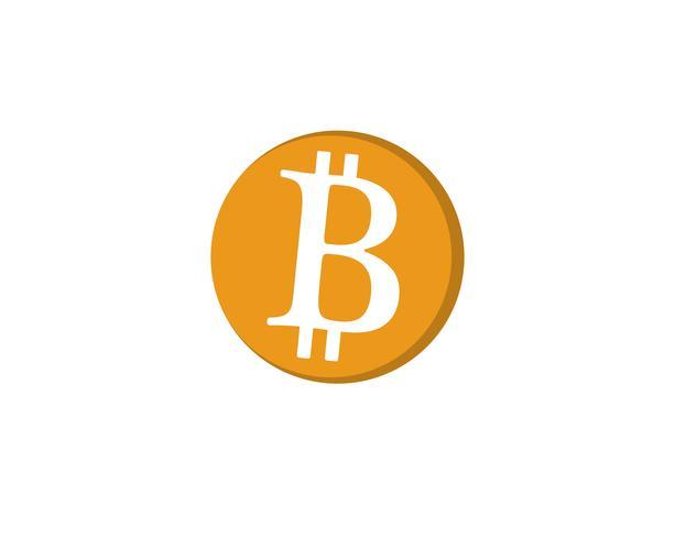Bitcoin logo vector sjabloon