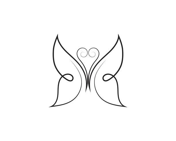 Conception d'icône de papillon de beauté