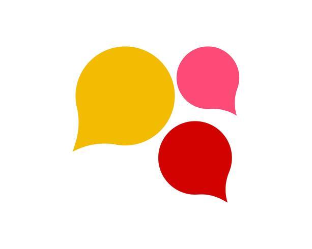 Ícone de bolha do discurso Logotipo modelo vector ilustração vector