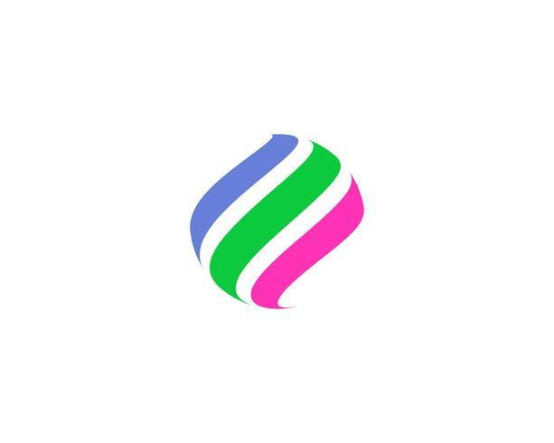 Ícone do logotipo do mundo fio colorido vetor