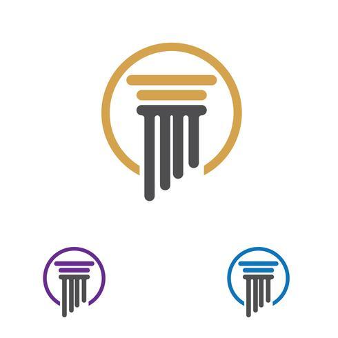 Modelo de vetor de logotipo de coluna