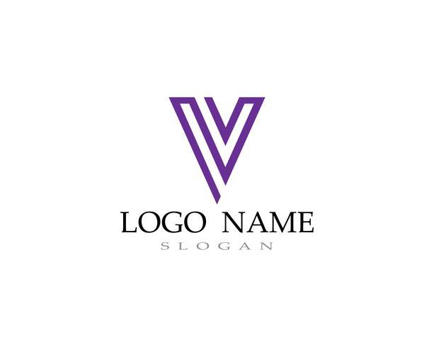 V-Logo und Symbolschablonen-Ikonenvektoren