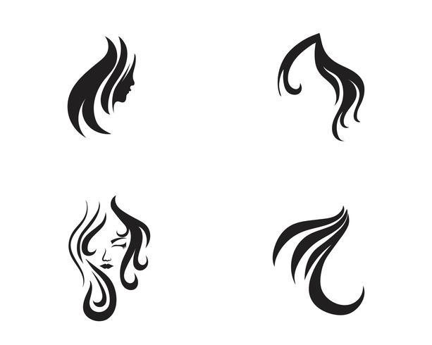 Haar en gezicht salon logo vector sjablonen