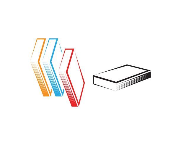 Boek lezen logo en symbolen sjabloon pictogrammen