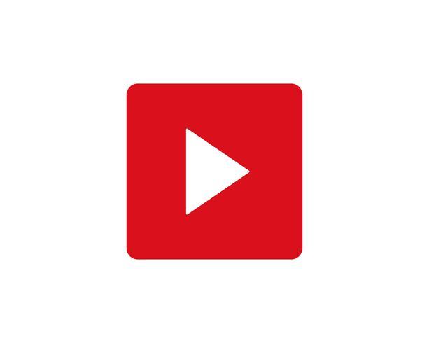 Reproducir botón vector logo vector reproductor de medios