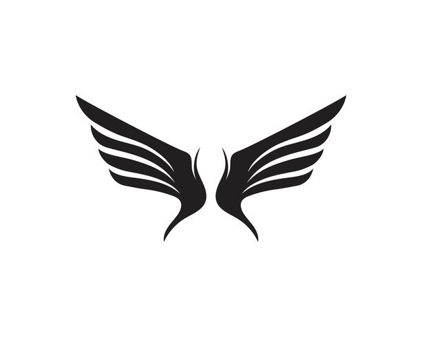Wing falcon bird logo