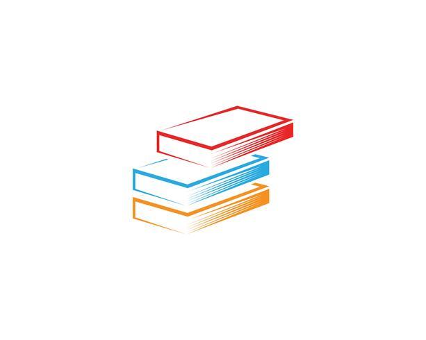 Libro de lectura de iconos de logotipo y símbolos de plantilla