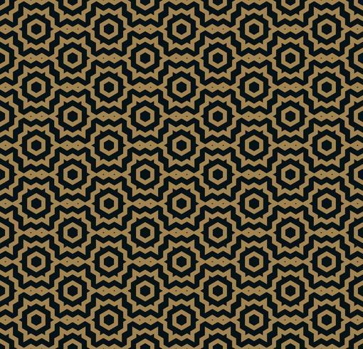 Vector naadloos patroon. Moderne stijlvolle textuur. Herhalende trendy geometrische tegels met zeshoekige lijn.
