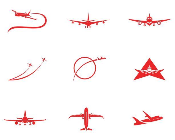 Diseño de ilustración de vector de icono de avión