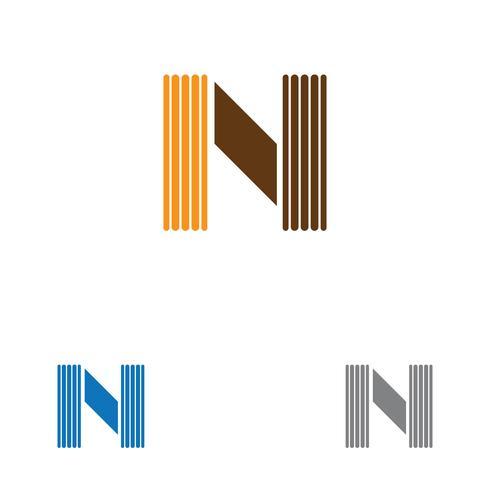 Modèle de logo de lettre N