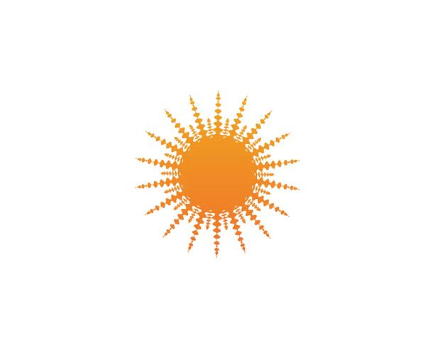 Vector de logotipo y símbolo de sol