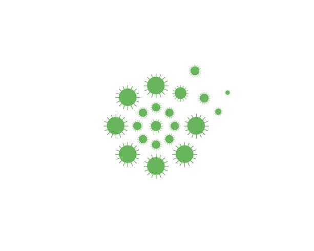 Fleur de pissenlit logo vecteur modèle