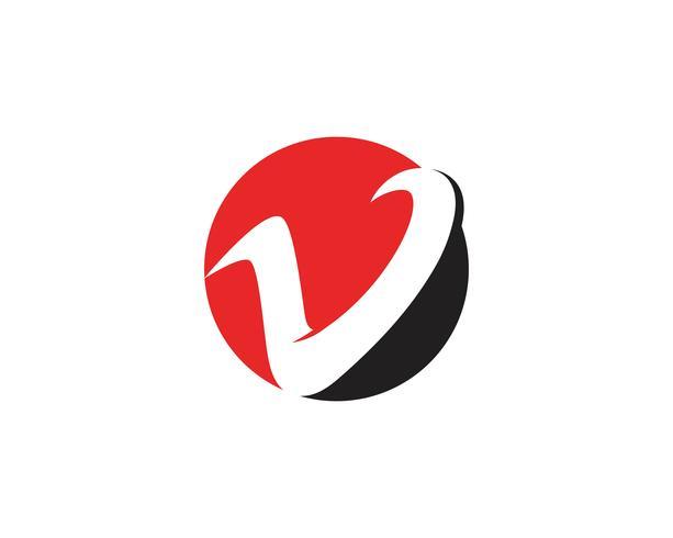 V logo de negocios y símbolos plantillas vector