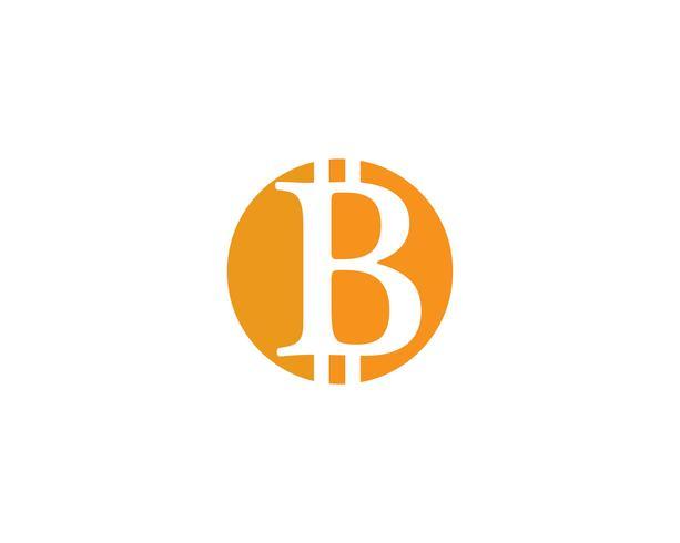 Bitcoin logo vector template