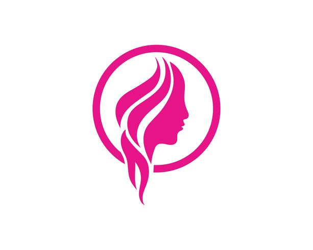 Hair and face salon logo vector templates