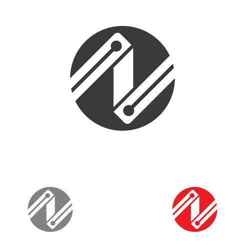 N Brief Logo Vorlage