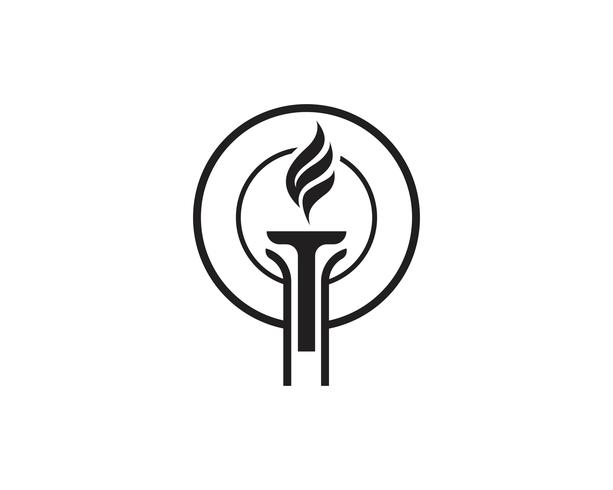 Initial T for Torch Logo und Symbol Design Inspiration