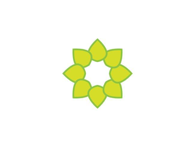 green leaf  logo ecology nature element