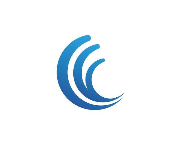 Diseño del ejemplo del vector del logotipo de la onda de C