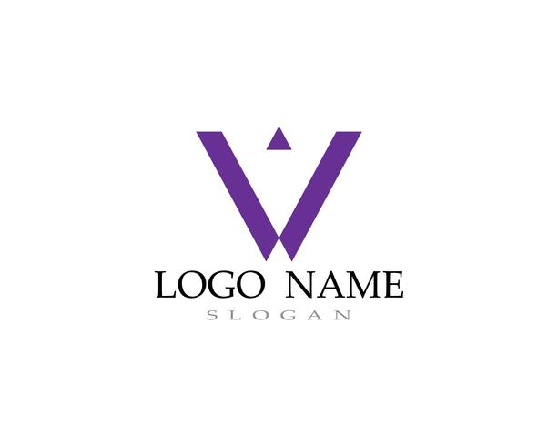 V logo and symbols template icons vectors