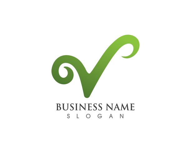V logo et vecteurs de symboles