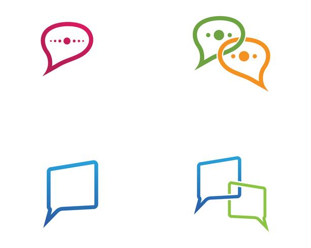 Toespraak bubble chat pictogram Logo sjabloon vector