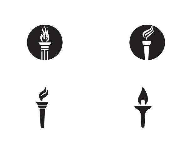T inicial para inspiração de design de logotipo e símbolo da tocha vetor