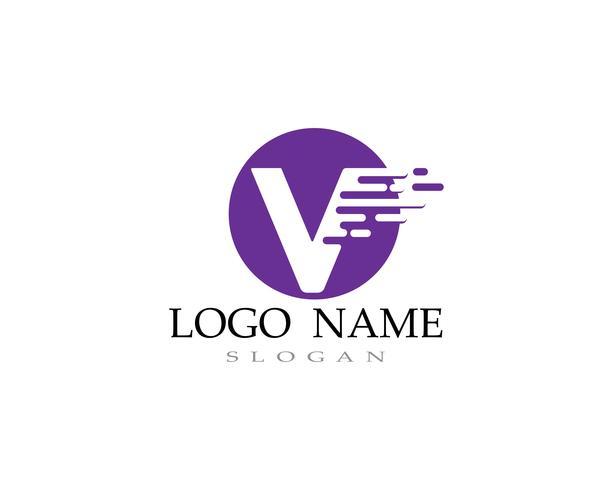 V logo and symbols template icons vectors