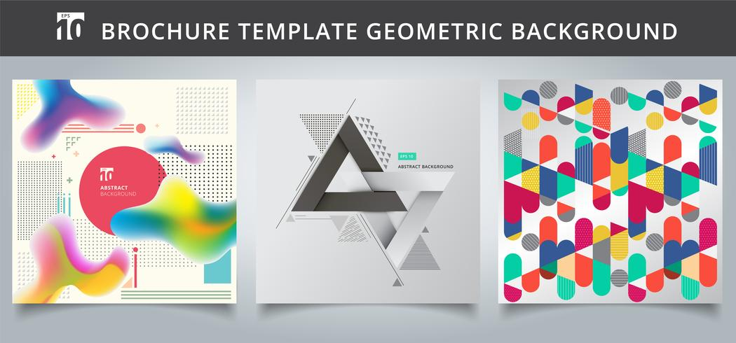Set template geometric covers design. vector
