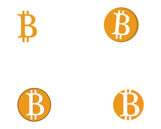 Bitcoin logo vector sjabloon