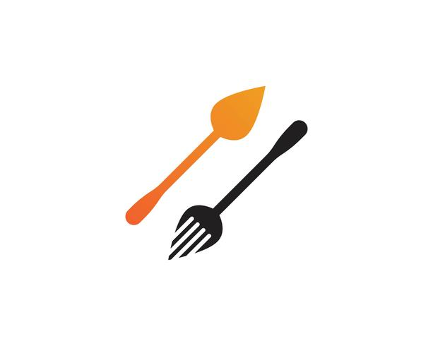 Fork and spoon logo restaurant vector