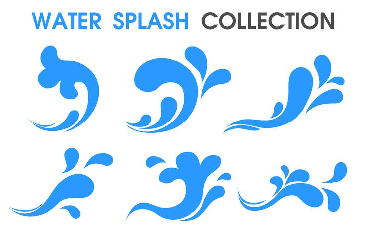 Splash water icon Flat and simple symbols. vector