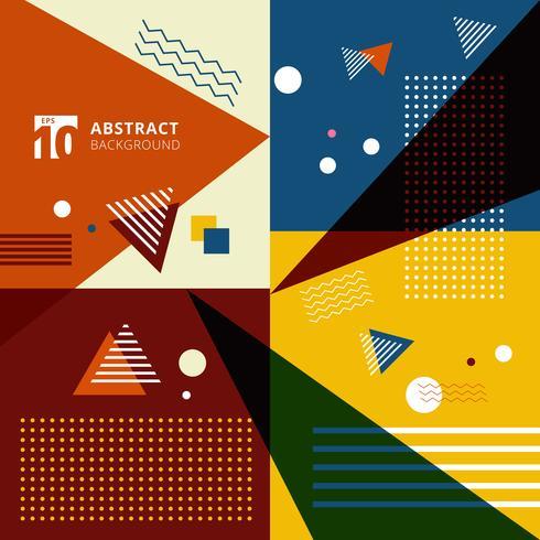 Fondo geométrico colorido abstracto del estilo del modelo. vector