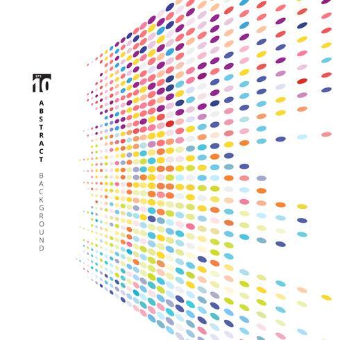 Motif de points de texture demi-teinte coloré perspective abstraite sur fond blanc. vecteur