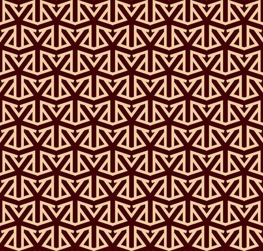 Padrão sem emenda de vetor. Textura elegante moderna. Repetindo ornamento linear vetor